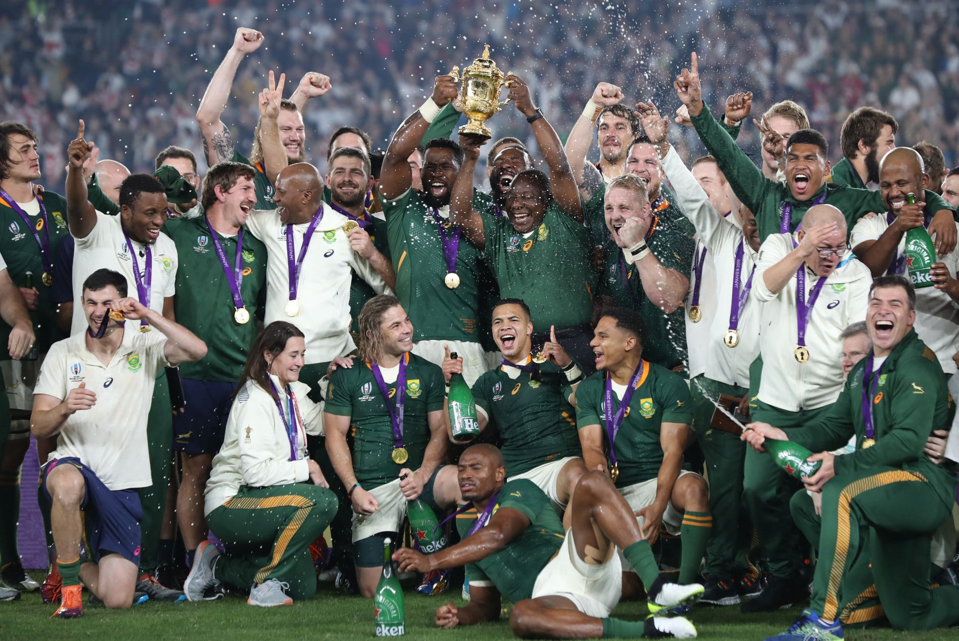 Social Wire Fans Celebrate South Africa S Stunning Rugby World Cup Championship 2019 Rugby World Cup Portal