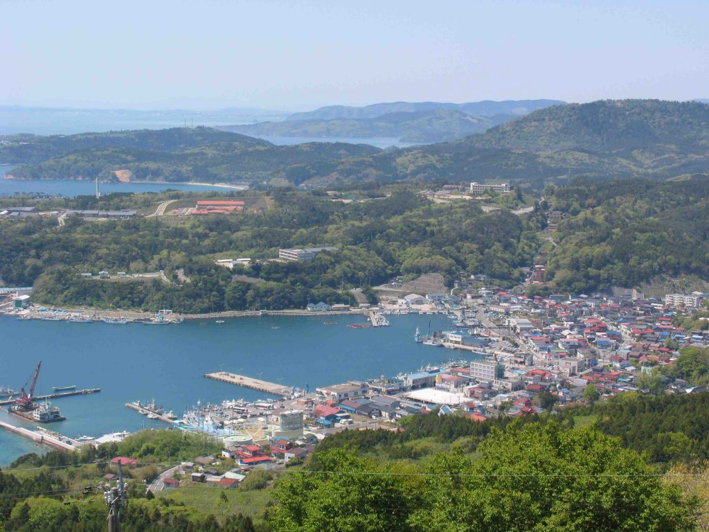 Ayukawa Port in Akita Prefecture prior to the Great Tohoku Earthquake in 2011